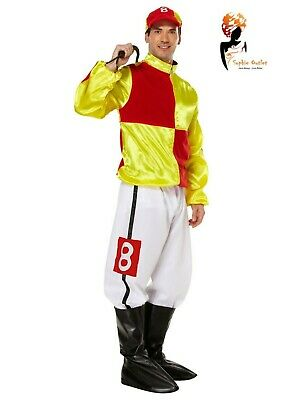 Men's JOCKEY COSTUME Fancy Dress Funny Hard Rider Horse Adult Stag Party Outfit  • 24.65£