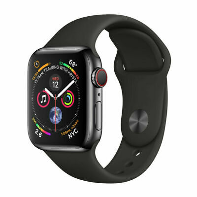 $ CDN815.09 • Buy Apple Watch Series 4 44 Mm Space Black Stainless Steel Case, Black Band Cellular