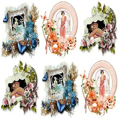 £2.90 • Buy PEACH MELBA ART DECO Embellishments (12), Card Making Toppers, Card Toppers