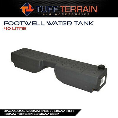 AU189.99 • Buy Tuff Terrain Poly Footwell Water Tank 40L Wagon Ute 4x4 Offroad Touring Camping
