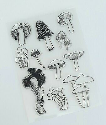 11 Toadstools/mushrooms Clear Stamps/transparent Silicone/rubber Stamp Set-fungi • 5.25£