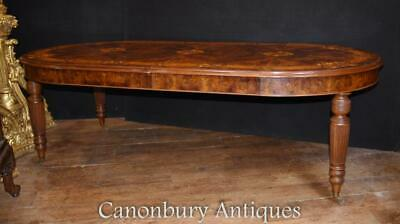 Victorian Walnut Dining Table Marquetry Inlay • 5,500£
