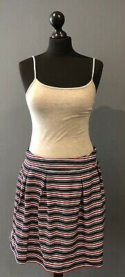 Red, White And Blue Striped Short Skirt With Net Lining - Size 12 • 4.25£