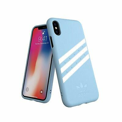 AU13.11 • Buy Adidas 3 Stripes Snap Case For IPhone X / XS - Light Blue 5.8 Faux Leather New
