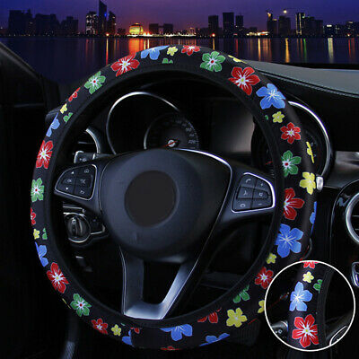 $2.79 • Buy Universal Flower Car Interior Accessories For Woman Leather Steering Wheel Cover