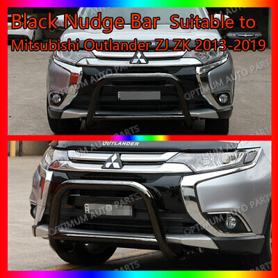 AU289 • Buy Black Steel Nudge Bar To Suit Mitsubishi Outlander ZJ ZK 2013-2020