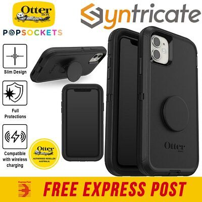 AU38 • Buy IPhone 11 (6.1 ) Otterbox Otter + Pop Defender Screenless  Silicone Case - Black