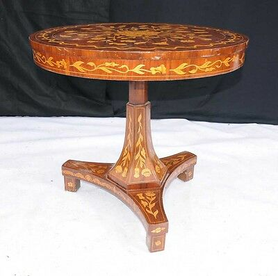 Dutch Marquetry Centre Table - Marquetry Inlay Dining Tables • 1,495£