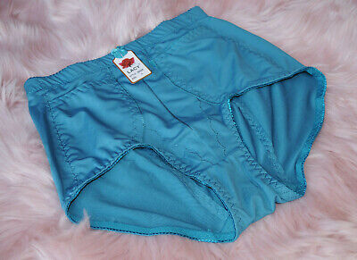 $10.99 • Buy Nylon HIGH WAIST Briefs TUMMY CONTROL PANTIES With POCKETS GIRDLES L Sissy VTG