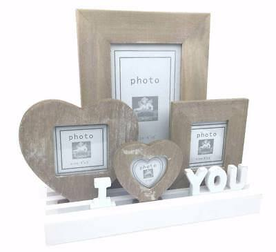 I Love You Multi Wood Frame On Interchangeable Tray BYZ256-HS • 9.99£