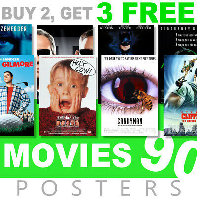 £3.99 • Buy Classic Movie Posters 1990s 90s Poster, A4, A3 270gsm Poster, Prints, Art, Film