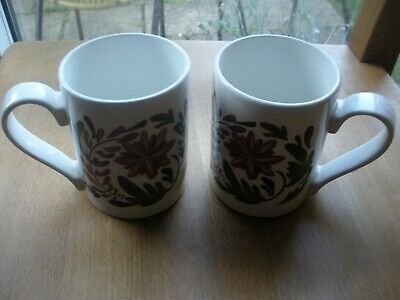 Welsh Dresser Portmeirion  Pottery  2 Coffee Mugs • 17.99£
