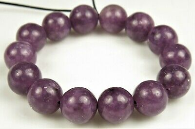 Sweet Purple ~ Natural African Lepidolite Round Bead - 8mm - 14 Beads ~ 7580A • 10.69$