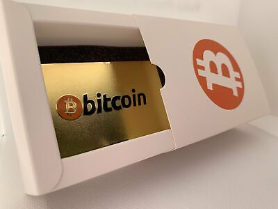 AU30.77 • Buy CryptoCurrency Hard Steel Wallet Address Card With Designer Drawer Box Bitcoin