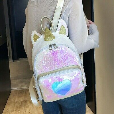 $13.99 • Buy Unicorn Glitter Bling Backpack Women Girls Shoulder Bag School Daypack Fashion
