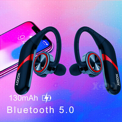 $19.99 • Buy Ear Hook Bluetooth 5.0 Earphone Stereo Bass Headphone Wireless Sport Headset Mic