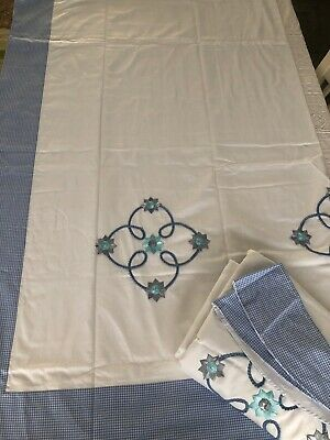 """£18 • Buy Gingham Edged Curtains 66"""" X54"""" NEW"""