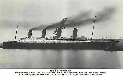 Postcard, RMS Titanic Just Before Leaving Belfast For Southampton 1912 CA3 • 3.99£
