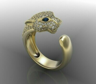 3D File CAD Design PANTHER Ring STL File, Cartier • 11.44£
