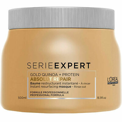 L'Oreal Serie Expert Absolut Repair 500ml Mask With Gold Quinoa + Protein Loreal • 19.99£