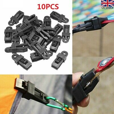 10PCS Reusable Clip For Tent Awning Clamp Camping Canvas Tighten Fixing Trap UK • 9.99£