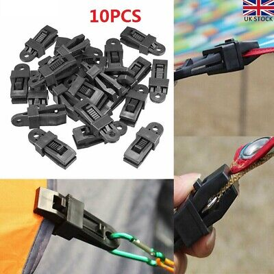 10PCS Reusable Clip For Tent Awning Clamp Camping Canvas Tighten Fixing Trap UK • 5.99£