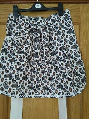 Half Pinny, Vintage Style. Paisley Print 100% Cotton. Hand Made • 9.99£