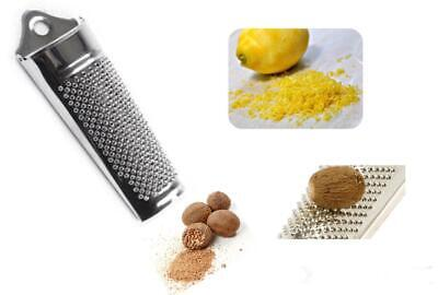 Tala Stainless Steel Nutmeg Grater Lemon Orange Zester Parmesan Cheese Grater  • 3.49£
