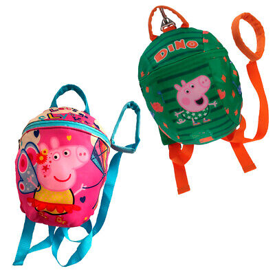 Peppa Pig George Boys Girls Toddler Reins Bag Backpack Walking Safety Harness • 12.99£