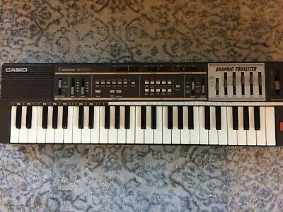 $95 • Buy Vtg Casio MT-100 Casiotone Keyboard Graphic Equalizer Synth 80's Vintage Hipster