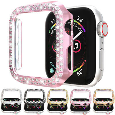 $ CDN6.57 • Buy For Apple Watch Series 4 5 44mm Case Bling Diamond Protective Cover Bumper Frame