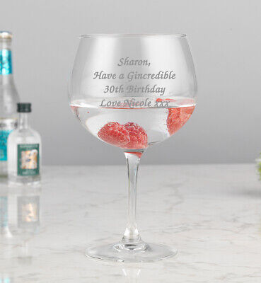 Personalised Engraved Gin Balloon Glass Let Your 30th 40th Be 18th 21st Birthday • 9.99£