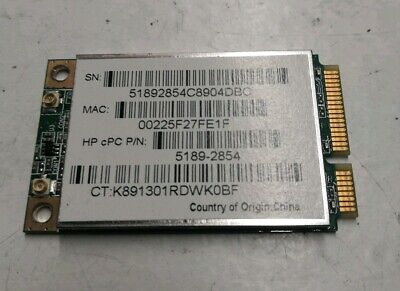 HP IQ500 TouchSmart PC WiFi Wireless Card Board 5189-2854 • 9.23£