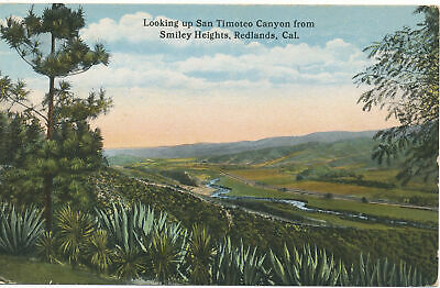 PC11227 Looking Up San Timoteo Canyon From Smiley Heights. Redlands. Cal. Photoc • 6.75£