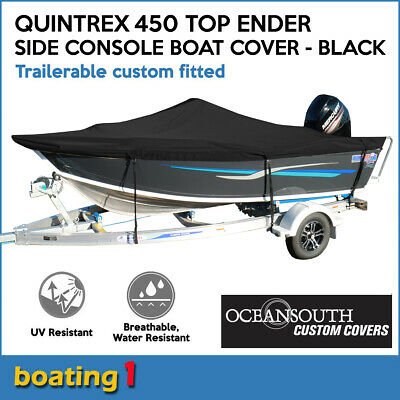 AU276 • Buy Oceansouth Trailerable Custom Boat Cover For Quintrex 450 Top Ender Side Console