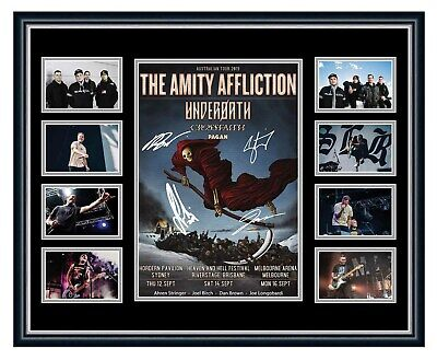 AU99.99 • Buy The Amity Affliction 2019 Tour Signed Limited Edition Framed Memorabilia Misery