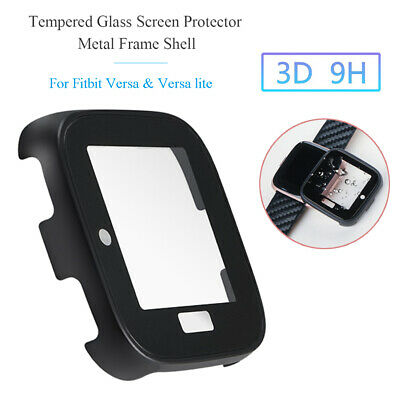 $ CDN7.92 • Buy Case Tempered Glass Screen Protector Metal Shell For Fitbit Versa&Versa Lite