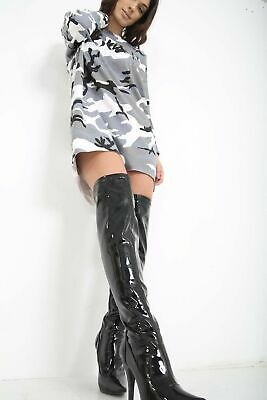 £29.99 • Buy Womens Ladies Mens Thigh High Over The Knee High Heel Stretch Boots Size UK 9-12