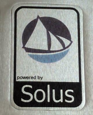 Powered By Solus Linux Aluminium Metal Decal Sticker Computer PC Laptop Badge • 1.35£