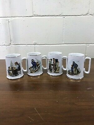 $ CDN39.53 • Buy Vintage 1985 Norman Rockwell Museum Coffee Mugs Cups Set