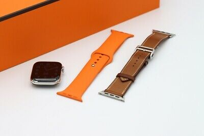 $ CDN1428.79 • Buy Apple Watch Series 4 Hermès 44 Mm Stainless Steel Case With Fauve Barenia...