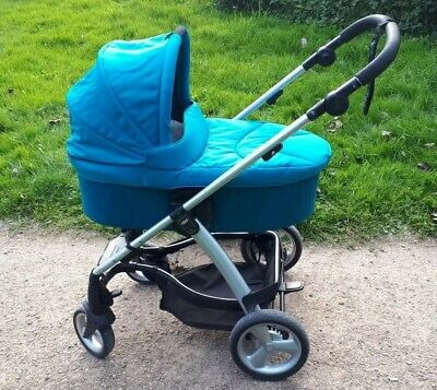 £110 • Buy Mamas & Papas Sola Pushchair Single Seat Stroller & Carrycot In Teal