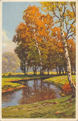 AU12.40 • Buy PC63546 Old Postcard. Lake In Forest. No 486. 1939