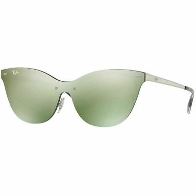$100.45 • Buy Ray-Ban Blaze Cat Eye Women's Sunglasses W/Green Mirrored Lens RB3580N 042/30