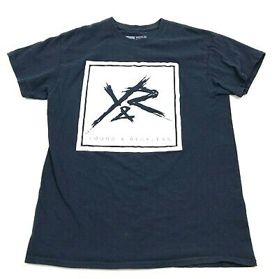Young & Reckless Y&R Men Shirt Graphic Tee Blue Short Sleeve Casual Adult Size M • 19.80£