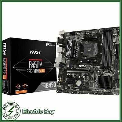 AU155 • Buy MSI B450M PRO-VDH MAX MATX Motherboard AMD AM4 Ryzen VEGA AM4 M.2 DDR4 VGA HDMI