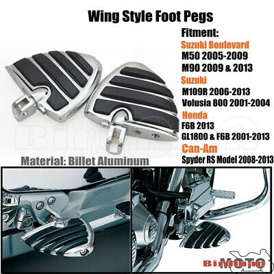 $66.06 • Buy Motorcycle Highway Wing Foot Pegs Footrest For Honda Suzuki M109R M50 M90 Can-Am