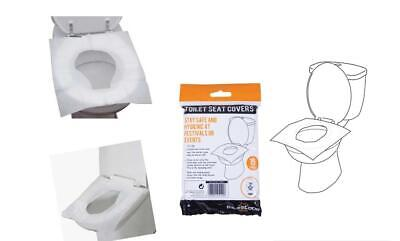 £3.49 • Buy 15 30 45 Disposable Toilet Seat Covers Flushable Camping Festival Travel Hygiene