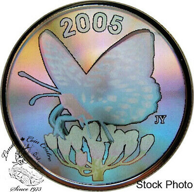 $28.62 • Buy Canada 2005 50 Cents Fritillary Butterfly Hologram Silver Coin