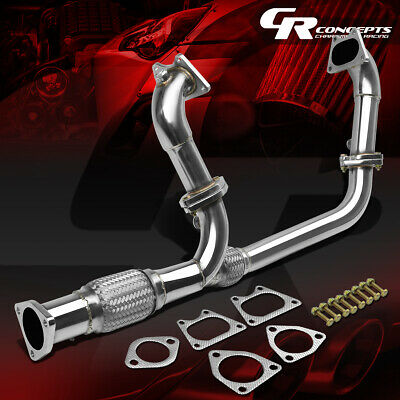 $166.98 • Buy For 03-07 Accord Uc1 3.0 V6 J30 Stainless Flex Exhaust Pipe Manifold Header+bolt